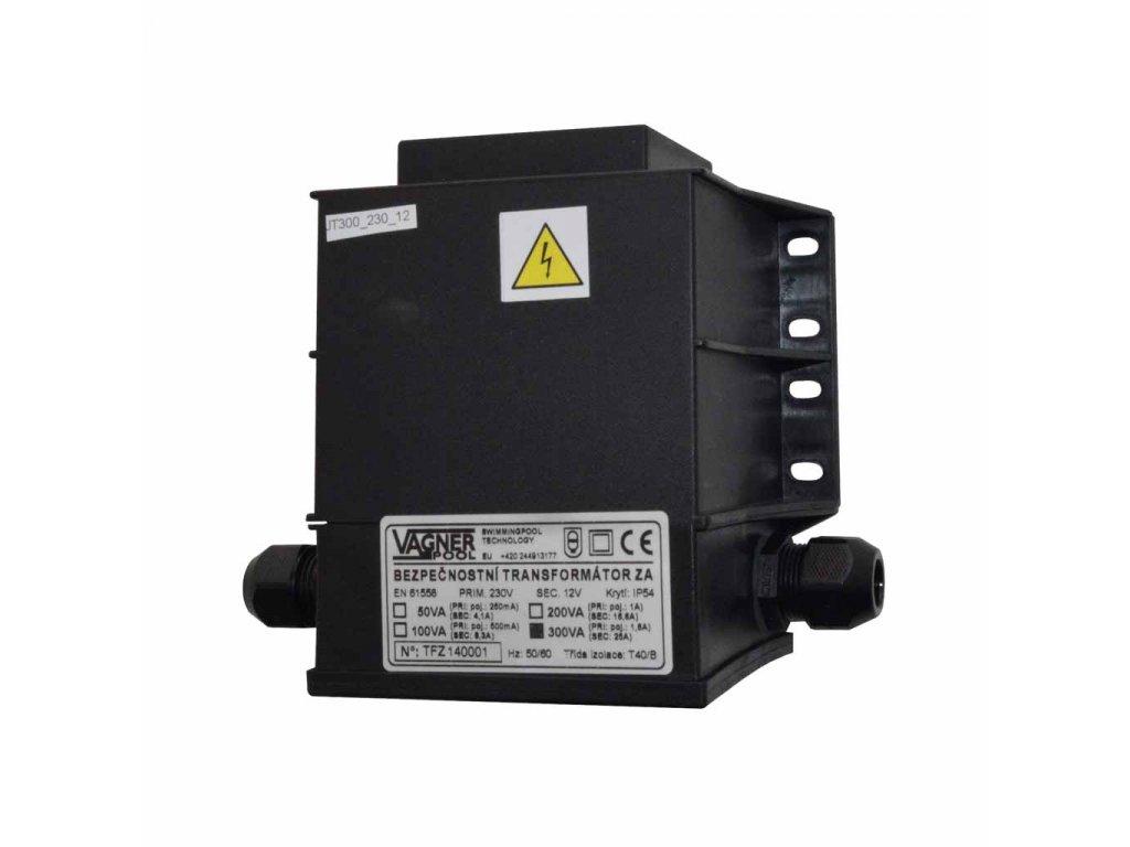 Bezpečnostní transformátor 300 W, zalitý 230 V na 12 V