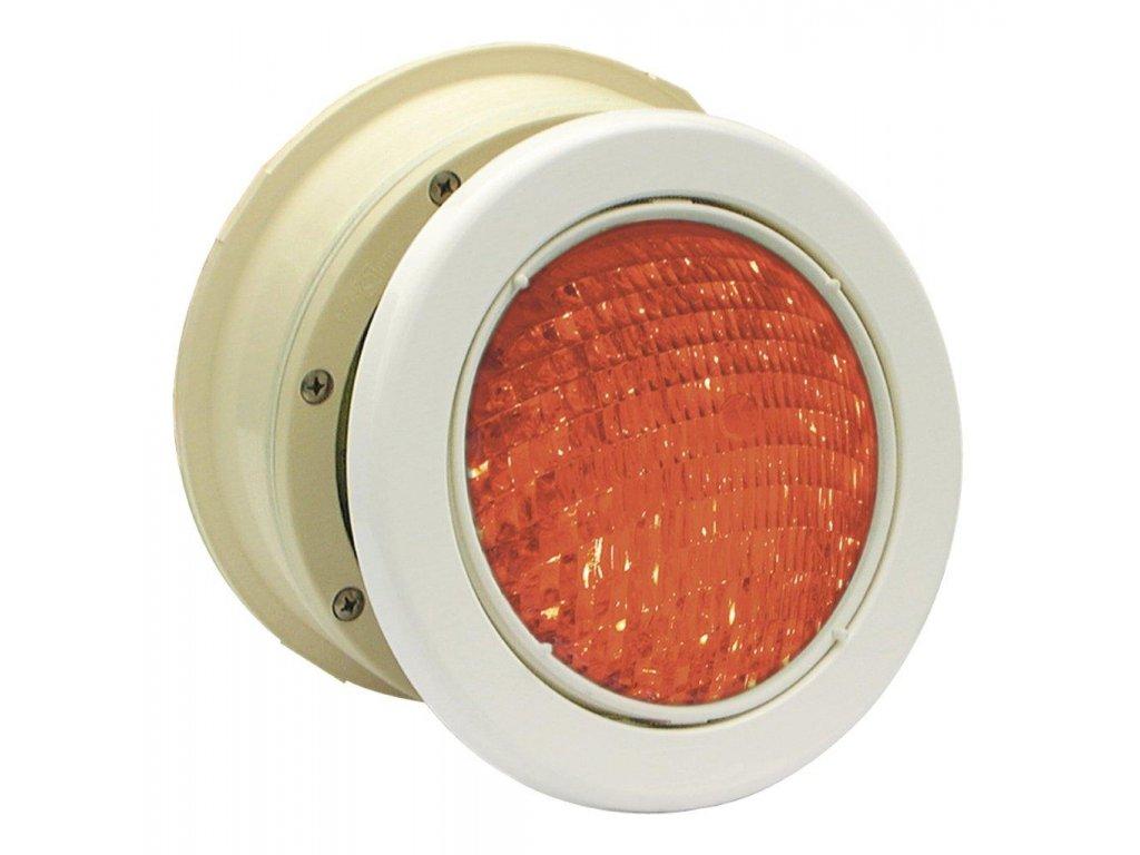Podvodní světlomet MTS LED RGB 16W, bílý ABS plast