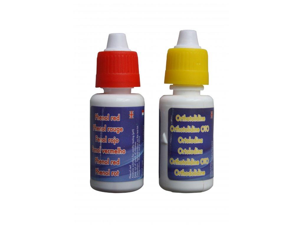 Testovací kapky Cl a pH – set
