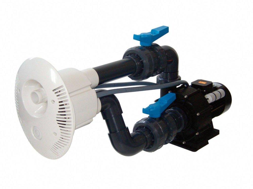 Protiproud V JET 74 m3h 1, 400 V, 2,9 kW, pro fóliové a předvyrobené baz. potrubí Ø 75 mm
