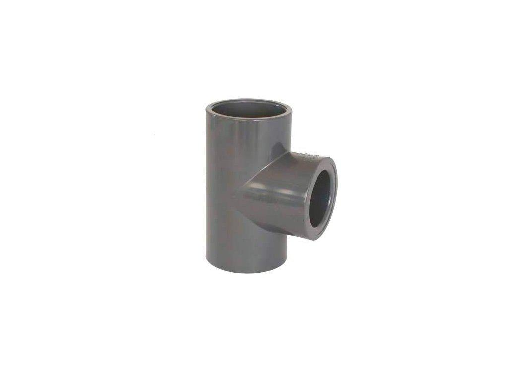 PVC tvarovka - T-kus 90° redukovaný 40 x 20 mm