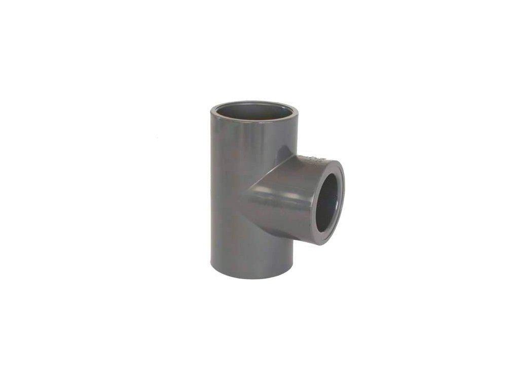 PVC tvarovka - T-kus 90° redukovaný 50 x 32 mm