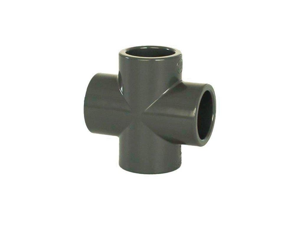 PVC tvarovka - Kříž 50 mm