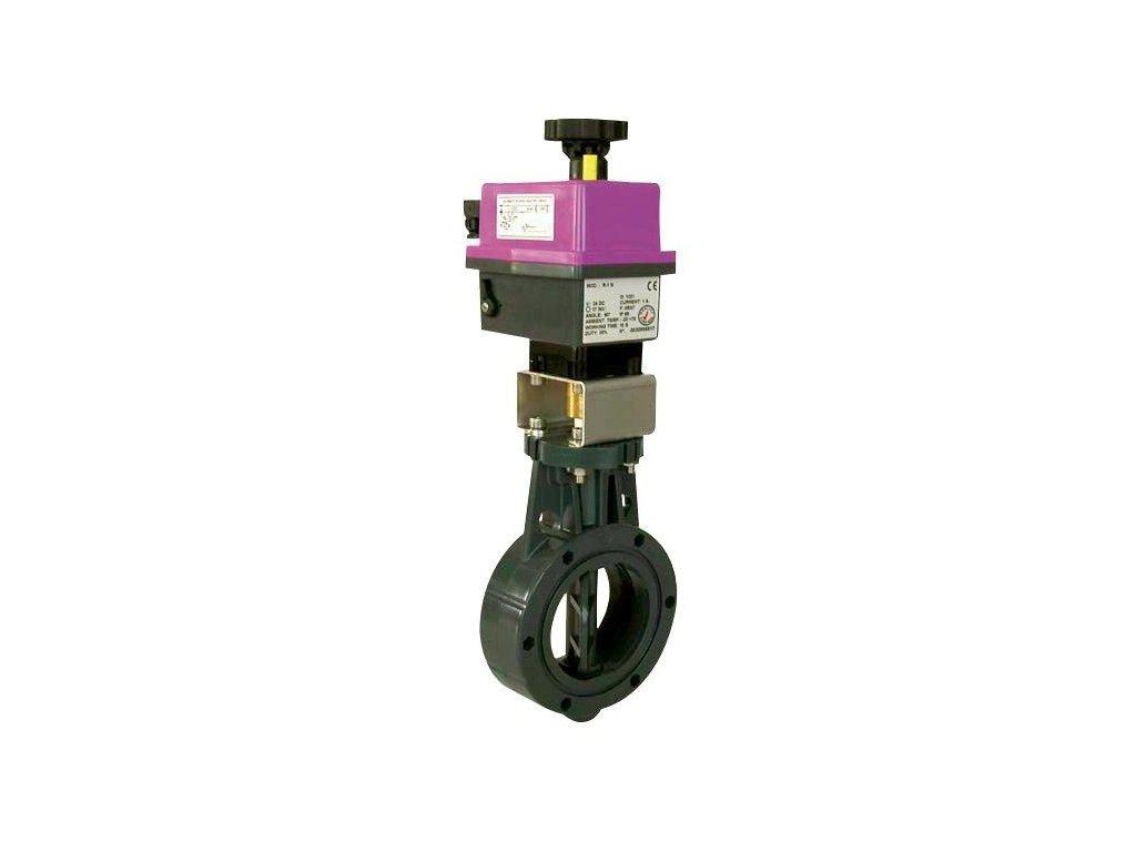 Uzavírací klapka s el. pohonem 110 mm