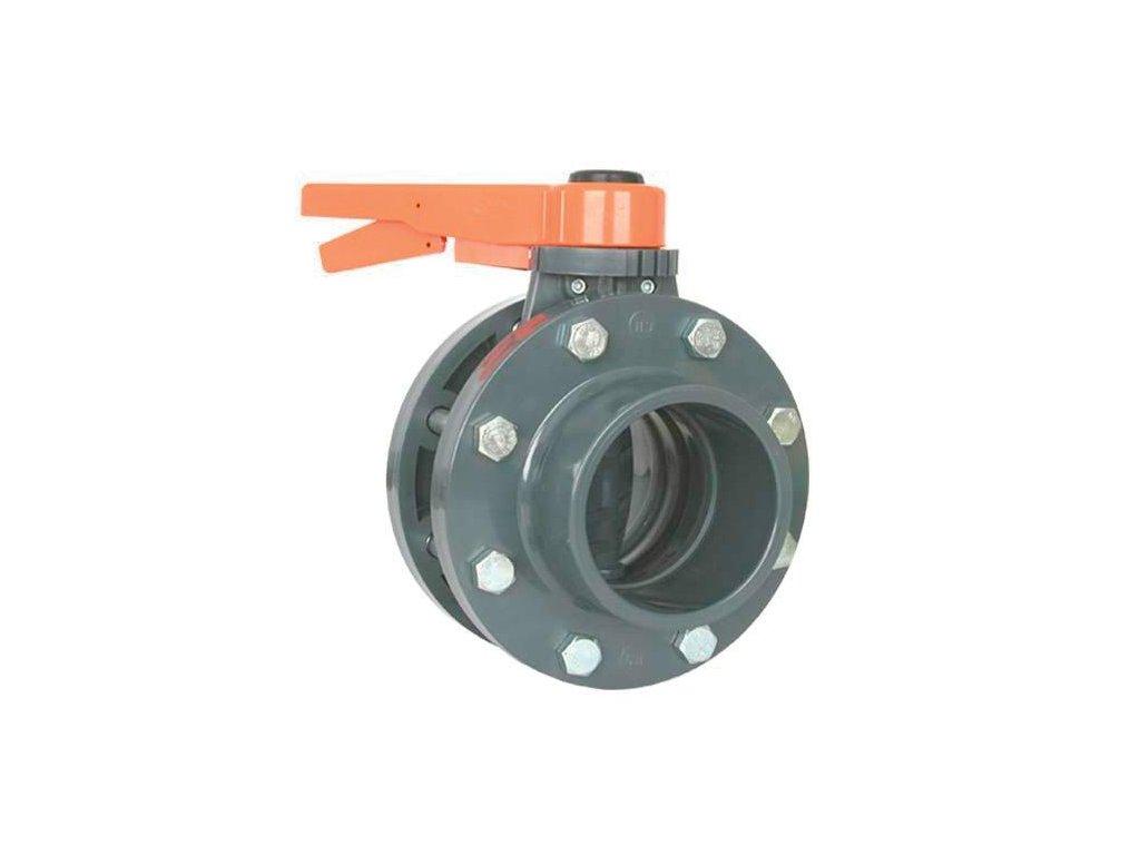 Uzavírací klapka s přírubou 125 mm