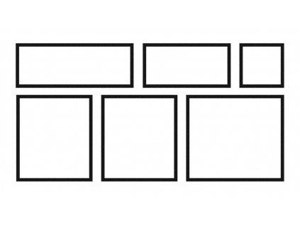 Dlažba Memphis – 6 kusů = 1 modul (0,90 m2) x tl. 27 mm