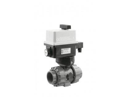 Kulový el. dvoucestný ventil 90 mm, 230 V, FIP -- pro solární systémy