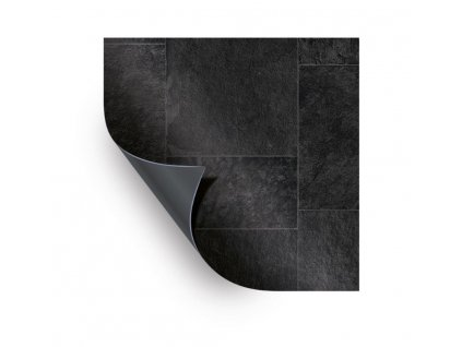 AVfol Relief - 3D Black Marmor Tiles; 1,65m šíře, 1,6 mm, metráž