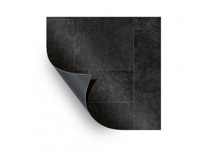 AVfol Relief - 3D Black Marmor Tiles; 1,65m šíře, 1,6mm, 20m role