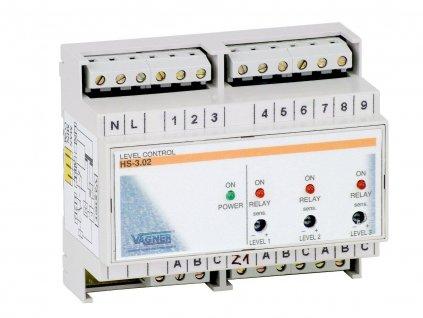 El. hlídání hladiny v akumulační jímce + 7x sonda (na DIN lištu)