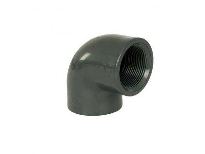"""PVC tvarovka - Úhel 90° 25 x 3/4"""" int."""
