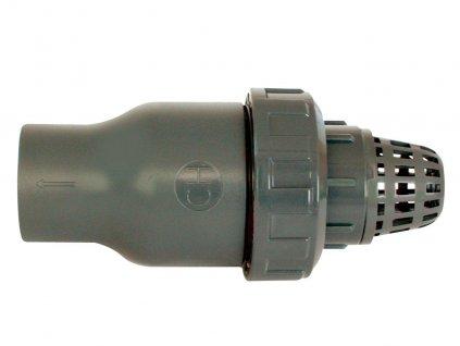 Tvarovka - Kuželový zpětný ventil 63 mm se sacím košem