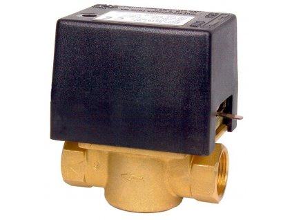 """Elektrický dvoucestný ventil. Připojení 1"""" in 230 V"""