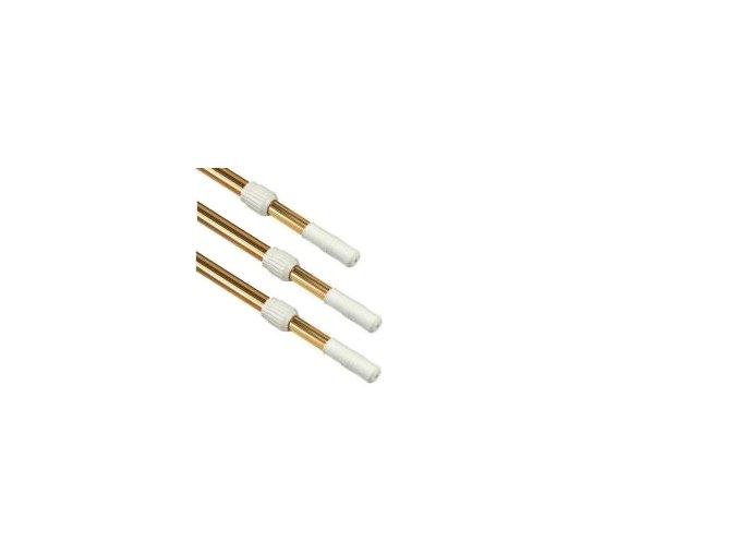 Teleskopická tyč 2,4–4,8 m, zlatá, dvou dílná (průměr 28 na 32 mm)