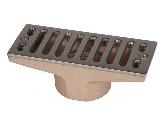 Výpust do přelivového žlábku – 160 x 60 mm, 2 palce napojení