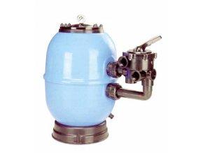 Filtrační nádoba Lisboa 600 mm, průtok 14 m3h 1, boční ventil 1
