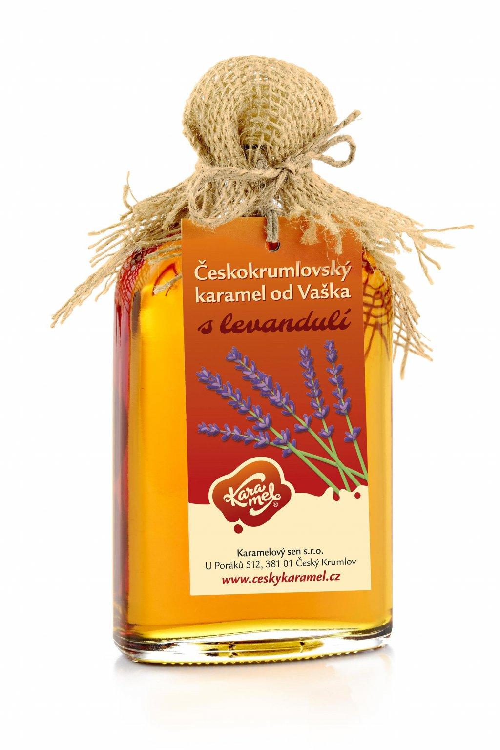 tekutý českokrumlovský karamel od vaškal s levandulí
