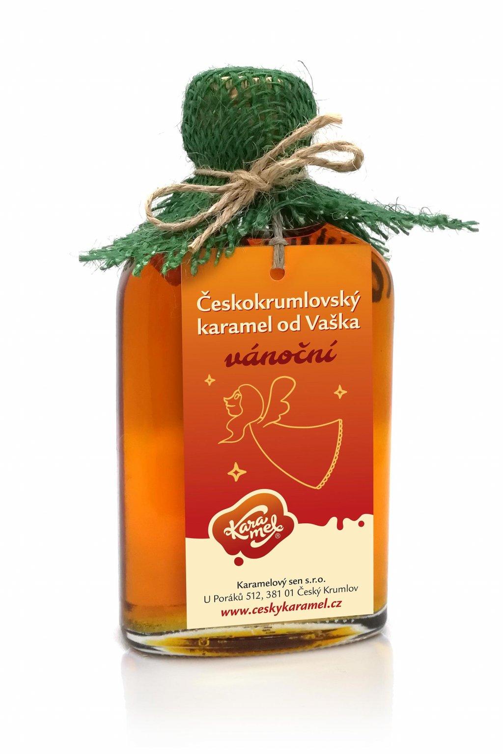 tekutý českokrumlovský karamel od vaška vánoční