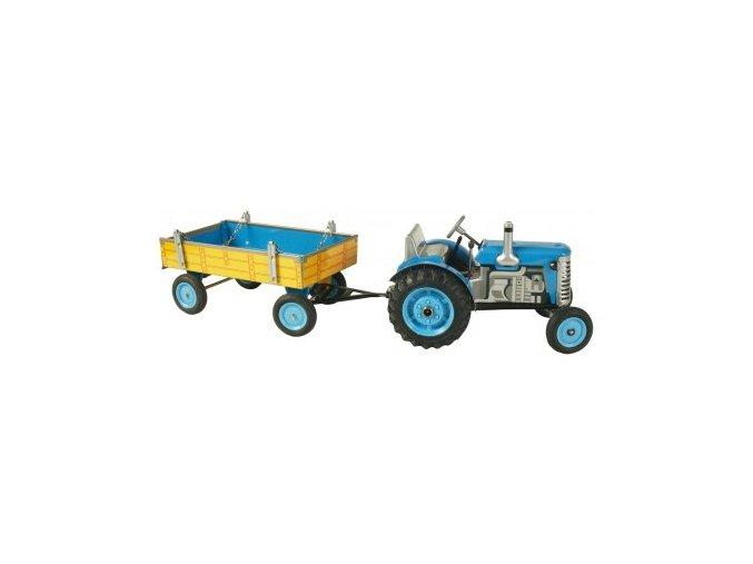 Kovap traktor s valníkem modrý
