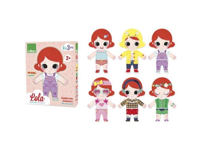 Vilac dřevěné puzzle Oblékání Lola