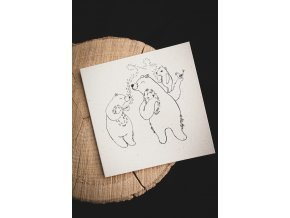 Rozkvetlá přání medvědí rodinka