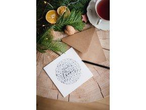 Rozkvetlá přání Veselé vánoce