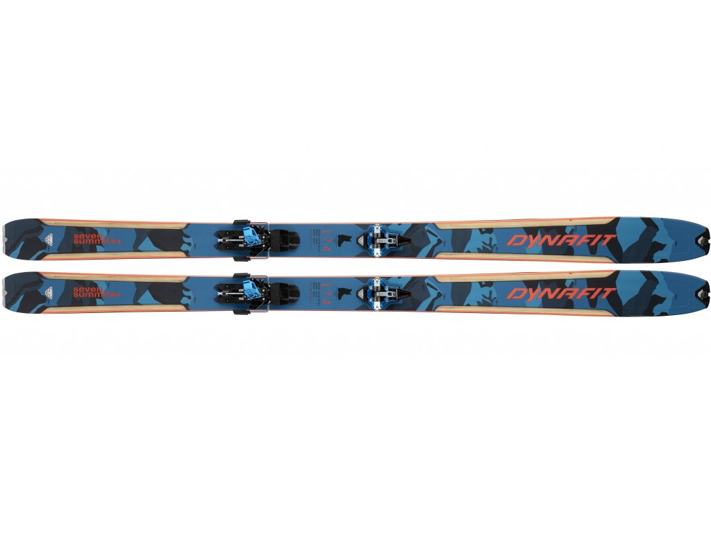 Skialpový set DYNAFIT SEVEN SUMMITS + SET (Barva Grey/red, Velikost 158 cm)