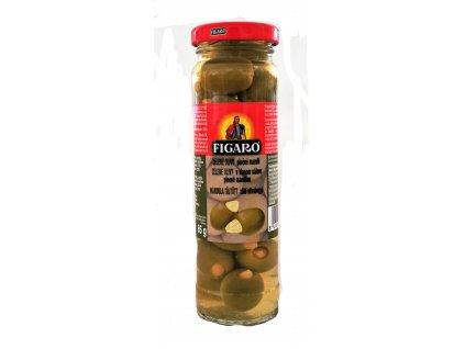InkedFigaro zelené olivy plněné mandlí 140g LI