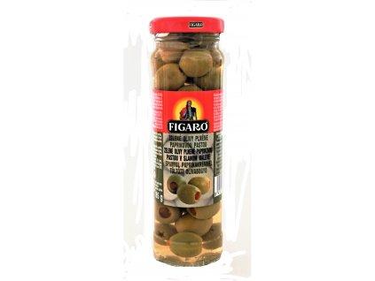 InkedFigaro zelené olivy s papričkou 140g LI