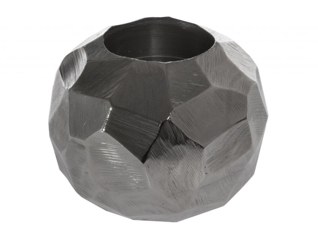 Dekorační svícen - Bowlo-stříbrný, malý