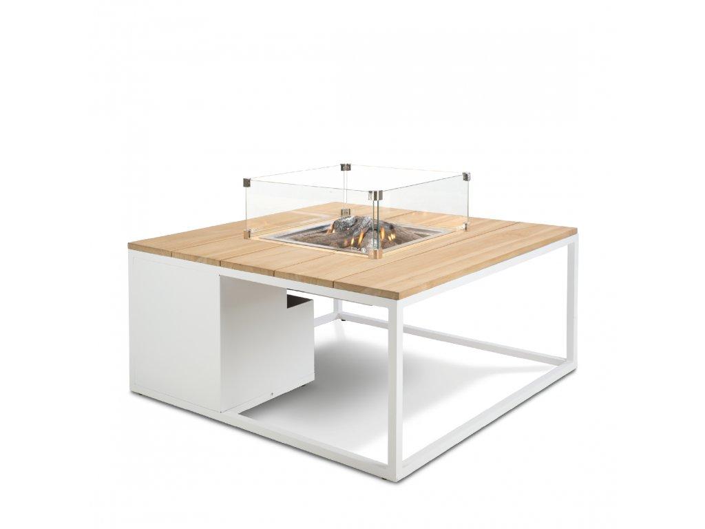 5957890 Cosiloft 100 white teak with glass set