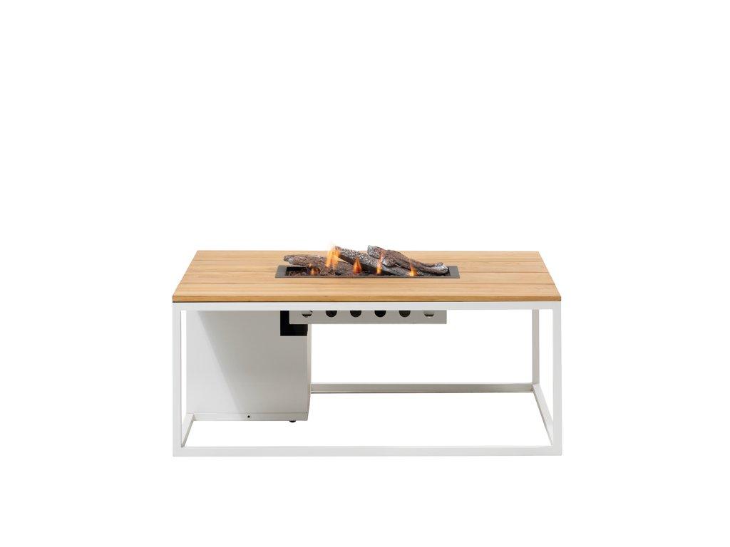 5958760 Cosiloft 120 white teak with glass set