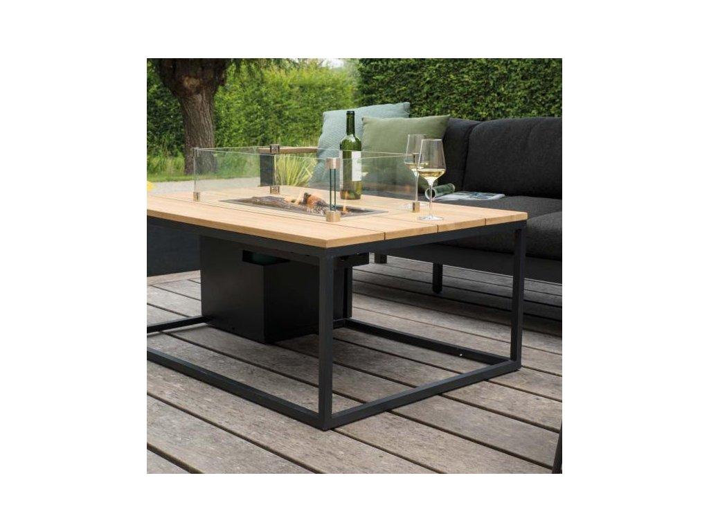 5980990 Cosiloft 120 lounge table black black alu