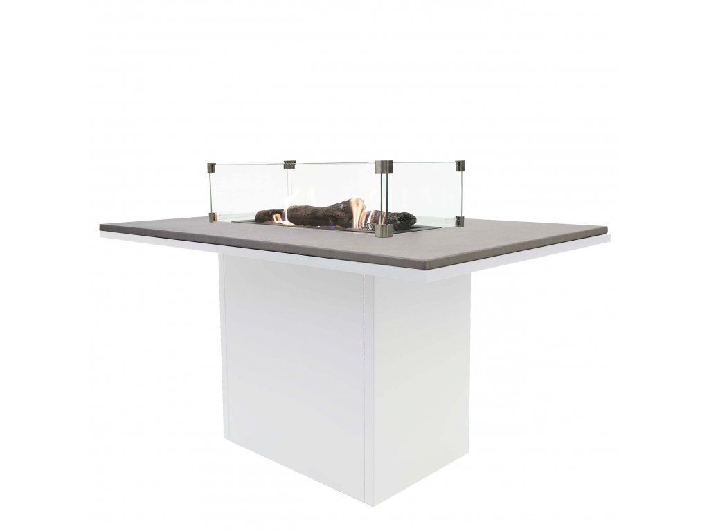 5980210 Cosiloft 120 relax dining white grey with glass set