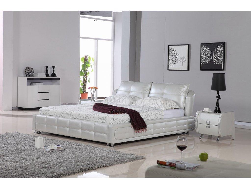 Moderní kožená postel - Rimini