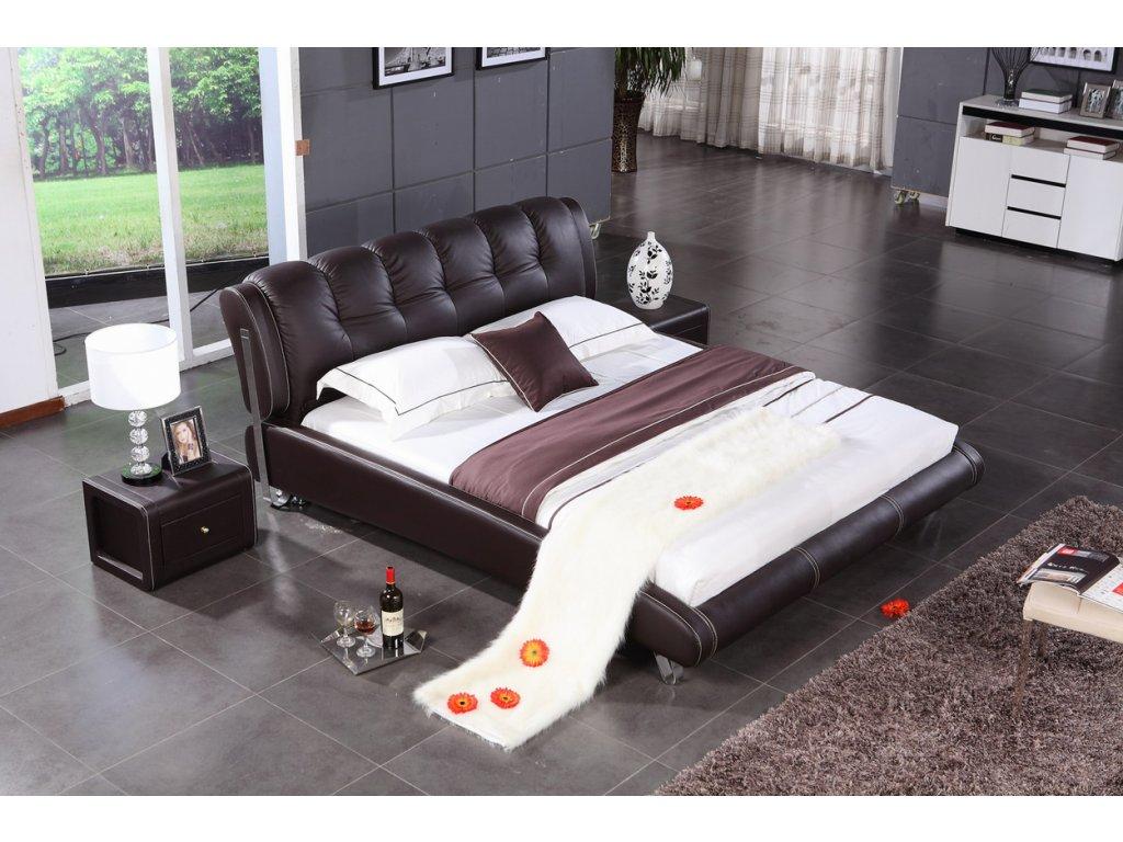 Moderní kožená postel - Teramo