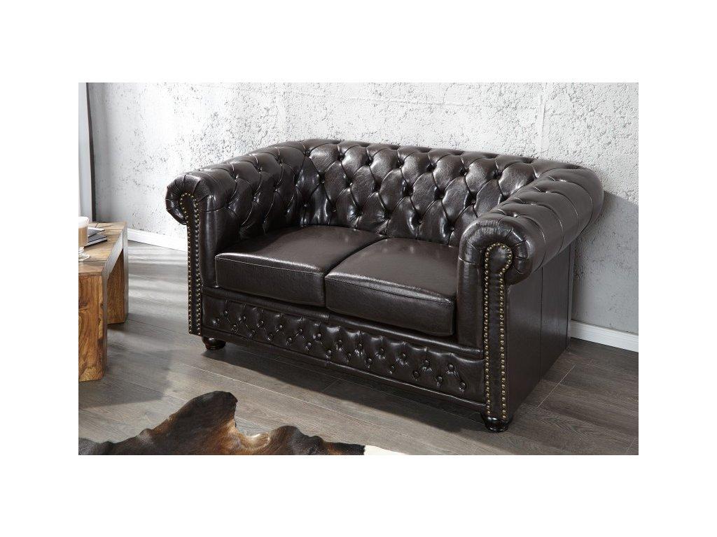 Luxusní pohovka - Alessandro, dvojitá černá