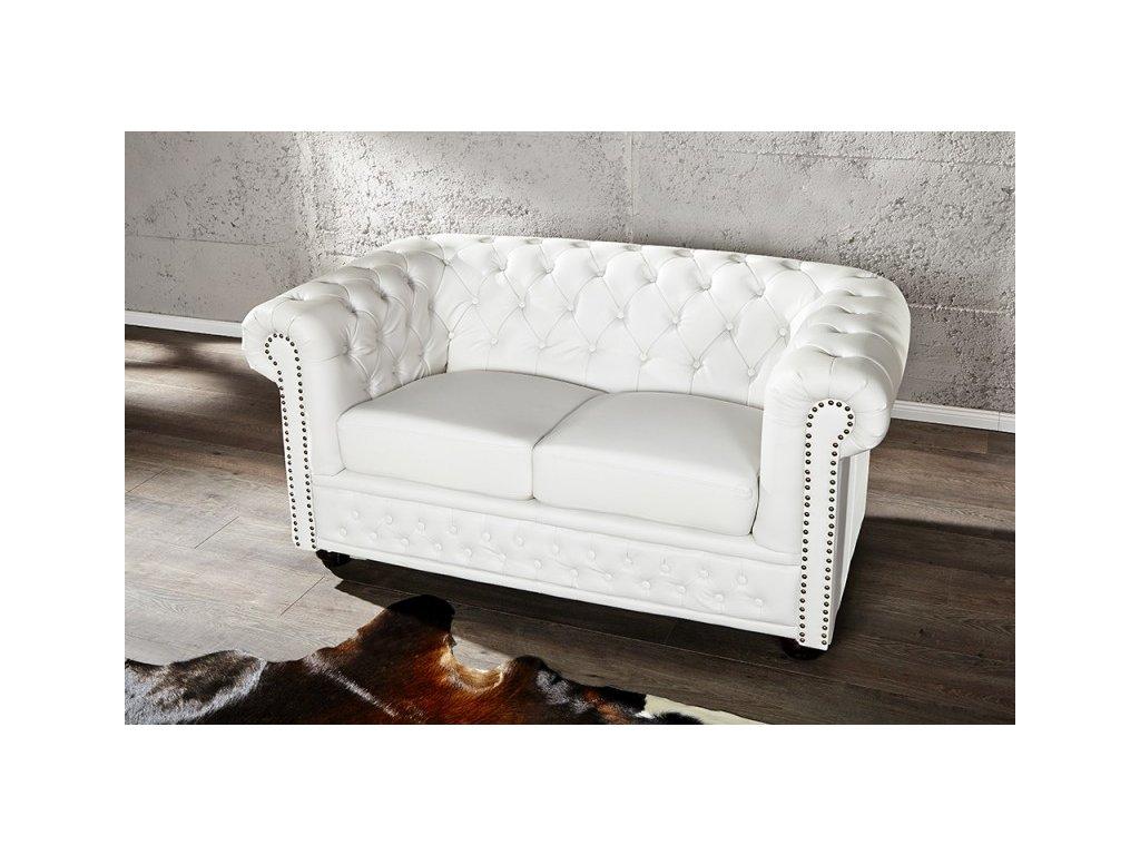 Luxusní pohovka - Alessandro, dvojitá bílá