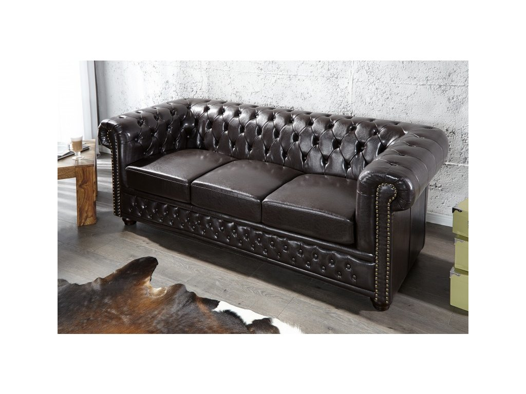 Luxusní pohovka - Alessandro, trojitá černá
