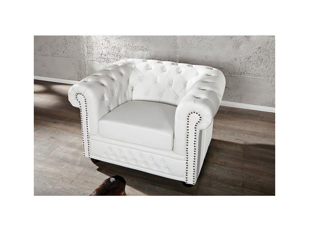 Luxusní křeslo - Alessandro, bílé