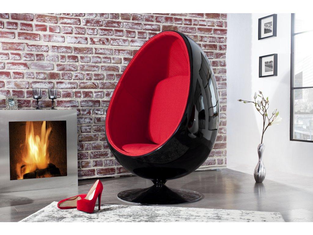 Moderní křeslo - Drago, černo-červené
