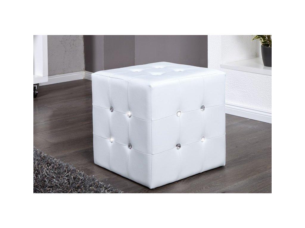 Moderní taburet - Giuseppe, bílý