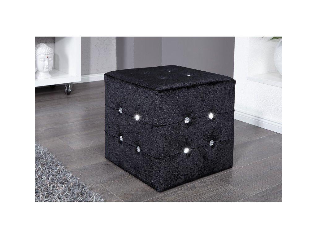 Moderní taburet - Giuseppe, černý