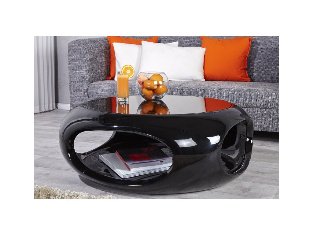 Designový konferenční stolek - Octavio, černý