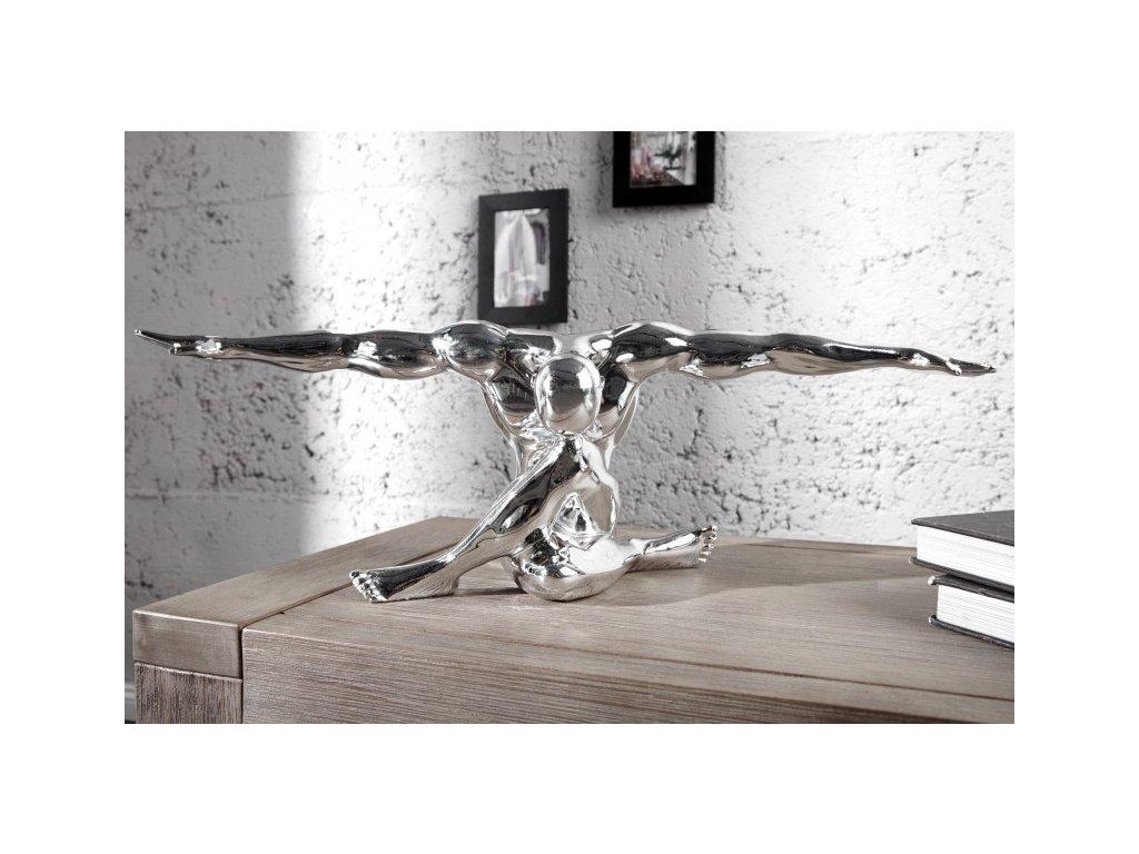 Dekorační předmět - Muscle, stříbrný