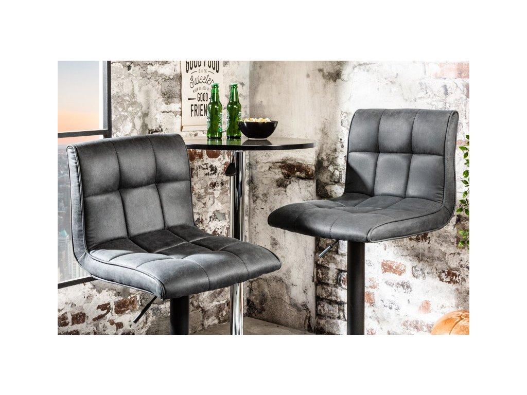 Moderní barová židle - Grace, černá