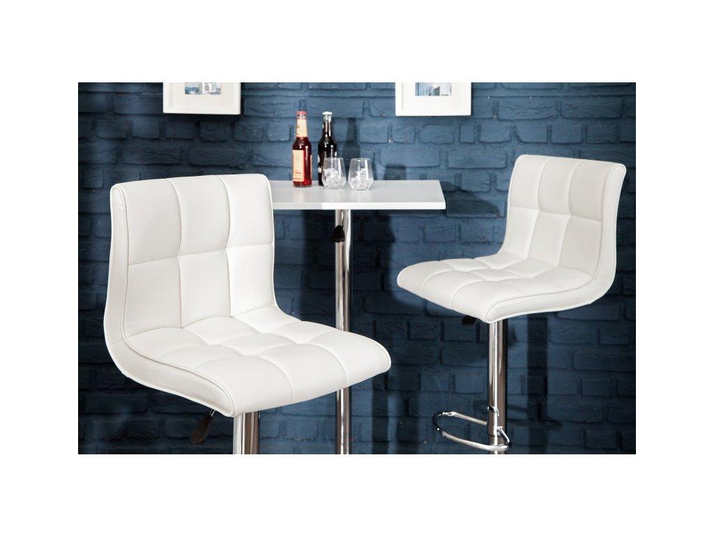 Moderní barová židle - Grace, bílá