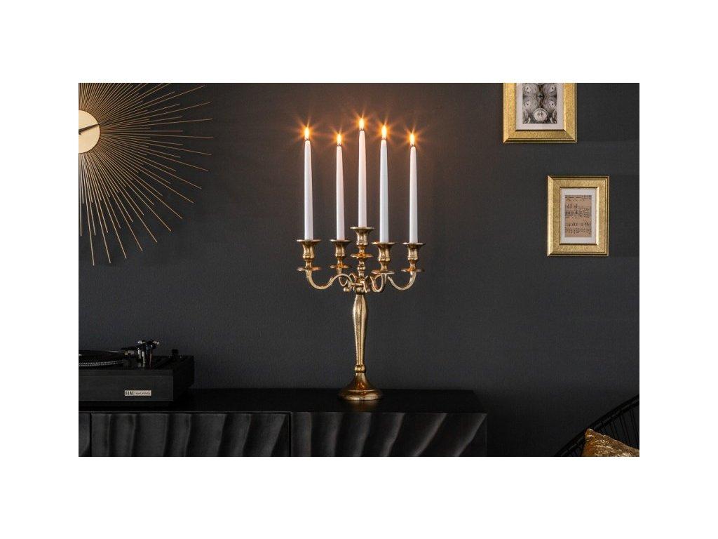 Dekorační svícen - Padova, zlatý mini