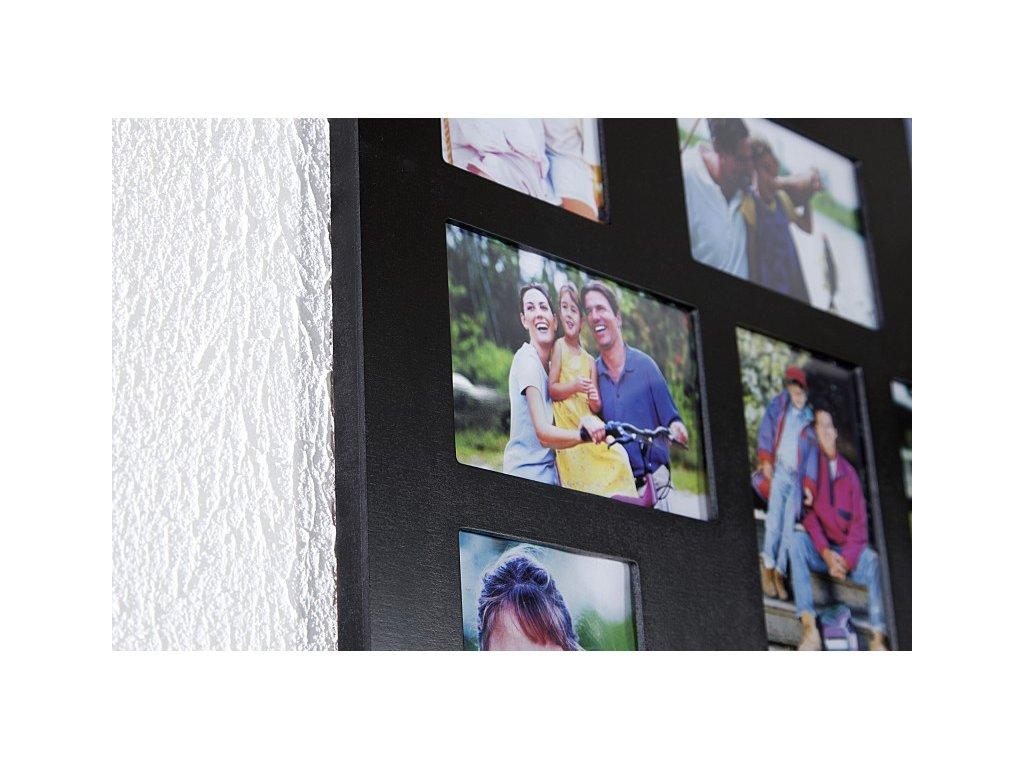 Stylový rám na 24 fotografií, černý