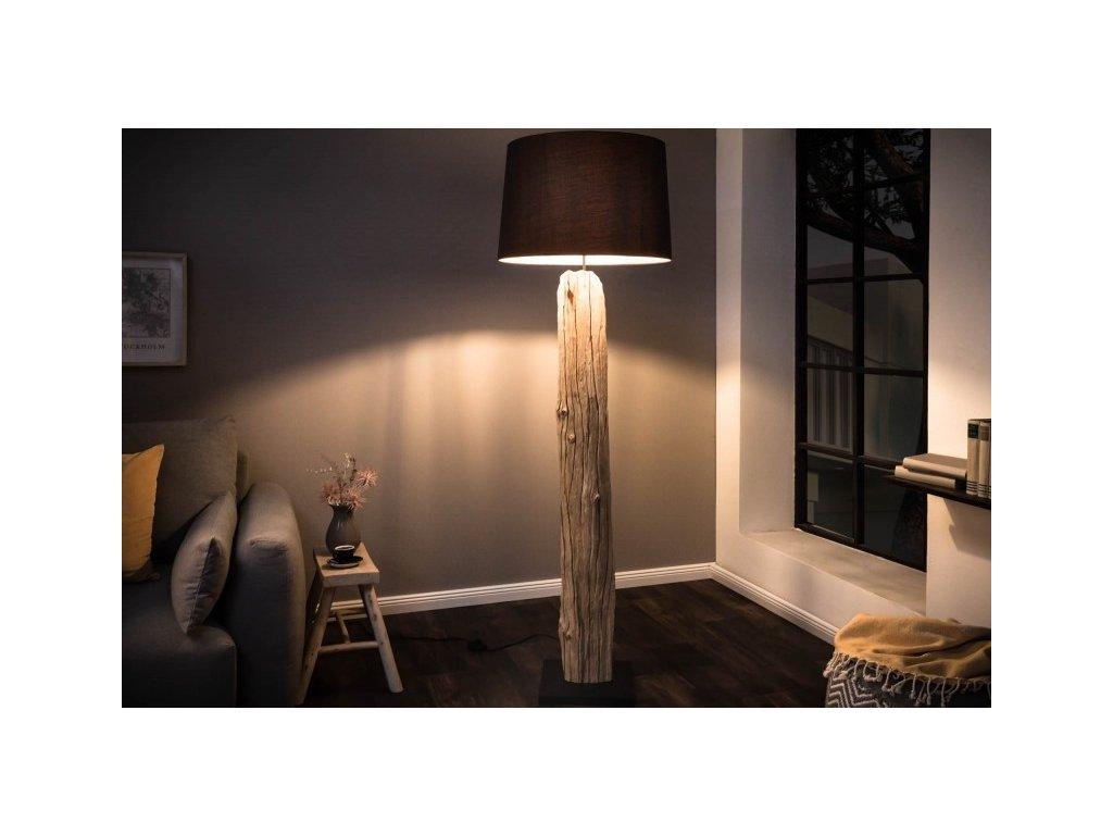 Moderní stojací lampa - Freya, hnědá